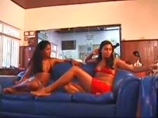 Brazilian lesbian lovers -